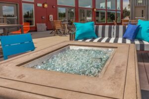 Use of Fire Glass Marbles in a Fire Pit