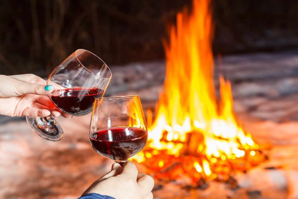 Best Propane Fire Pit and wine
