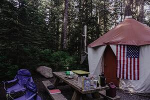 Wood Stove in Tent